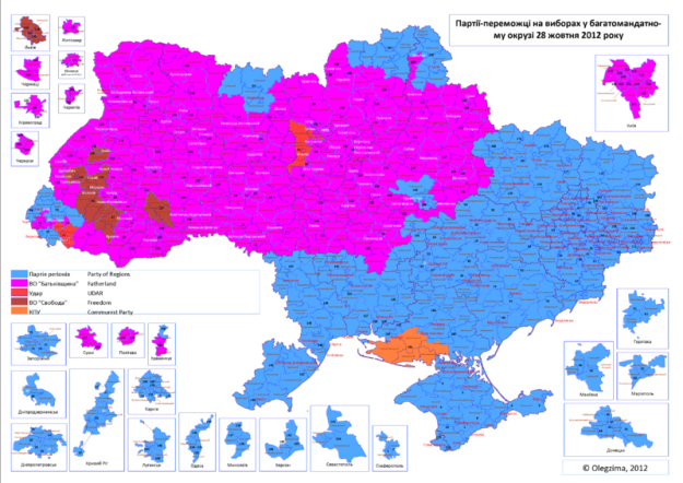 1. UKRAINA  APOTELESMATA EKLOGON 2012